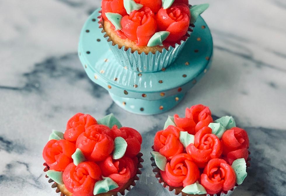 Kentucky Derby Rose Cupcakes