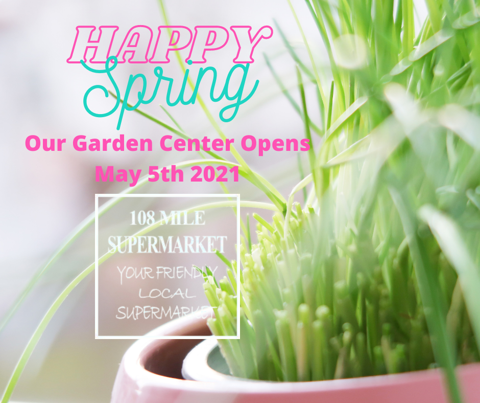 Our Garden Center Opens May 5th