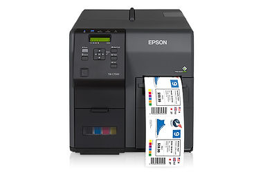Epson C7500 inkjet printer for full-color tags and labels
