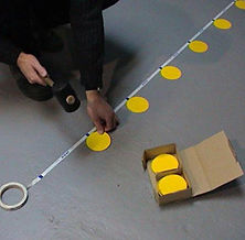 Trebnick manufactures labels for warehouse floor marking and organization
