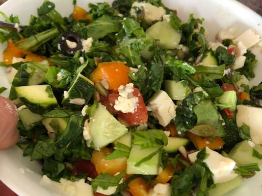 Healthy keto salad as a meal