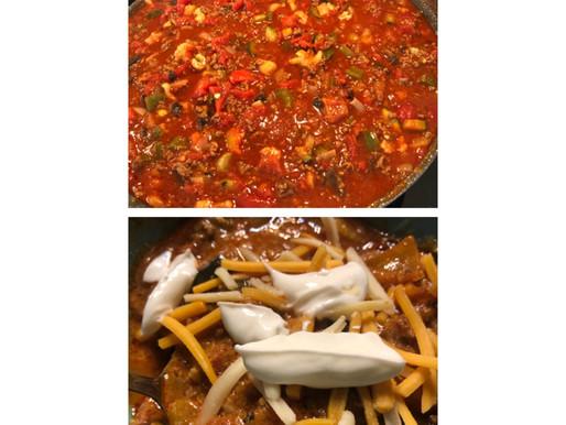 Healthy keto chili - so yummy!!!!!