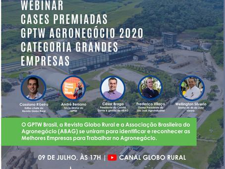 WEBINAR - Cases Premiadas GPTW Agronegócio 2020