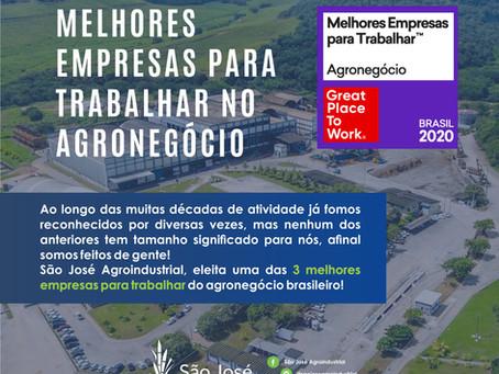 São José Agroindustrial ganha prêmio GPTW
