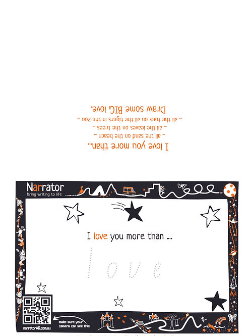 Valentine's Day card - I love you more than ...