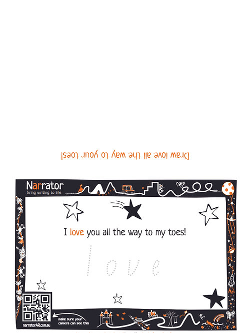 Valentine's Day card - I love you all the way to my toes!