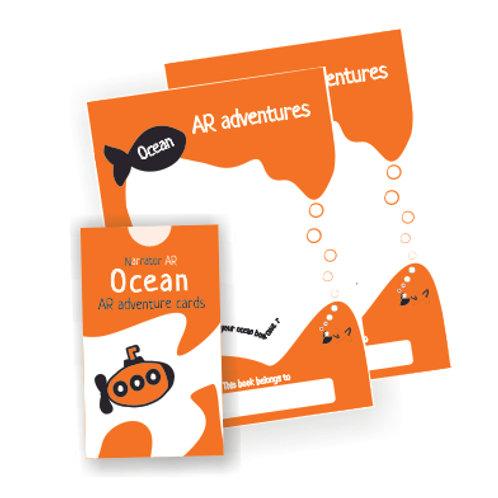 AR Activity book + cards l Ocean Adventure l Family Bundle