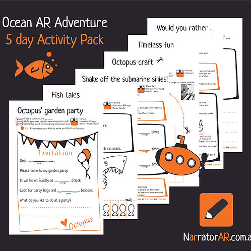 Bundle - AR Adventure Ocean 5 day activity pack
