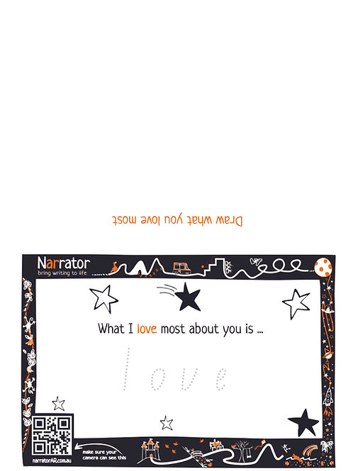 Valentine's Day card - What I love the most about you is