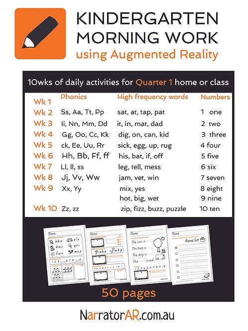 Bundle - AR Morning Work l A-Z  CVCs  1-10 l 50 pages