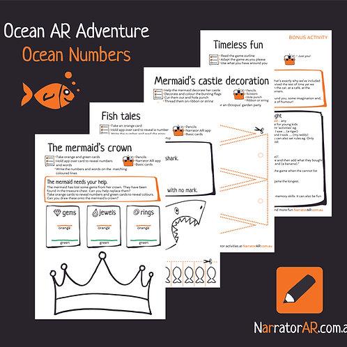 AR Adventure Ocean Number activity pack