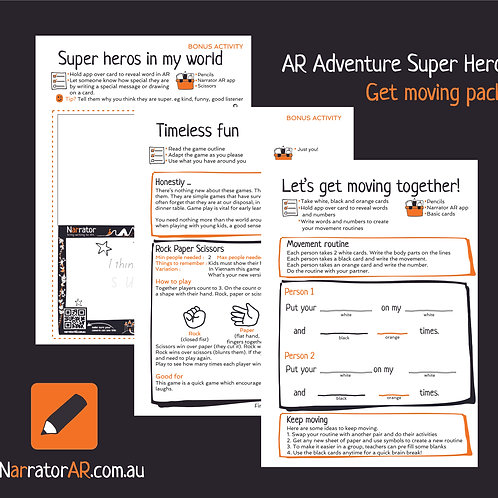 AR Adventure Super Get Moving activity pack