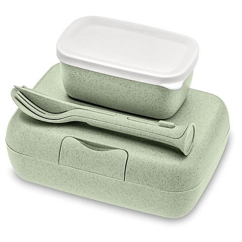 Indelių rinkinys pietums su įrankiais ( šv. žalia spalva )