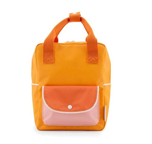 Keliautojo kuprinė | saulėta geltona+ryški oranžinė+rožinė pudra