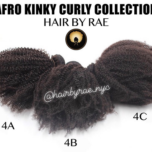 Afro Kinky & Curly Collection Bundles 3A-4C