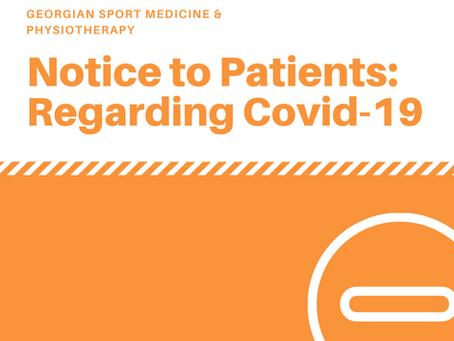 *UPDATED* NOTICE TO PATIENTS REGARDING COVID-19