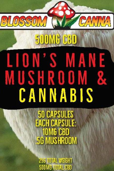 Lion's Mane Blossom Canna CBD Capsule