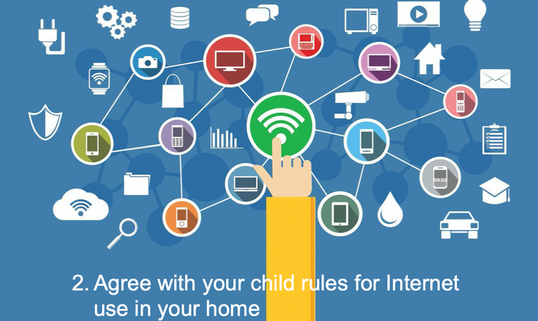 2. Agree with your child rules for Internet use in your home