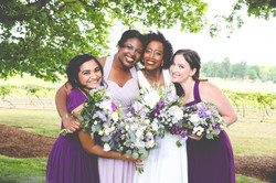 Bridal party,Flag Hill Winery