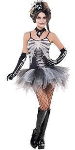 skeleton tutu dress