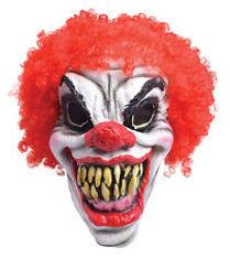 red hair clown mask