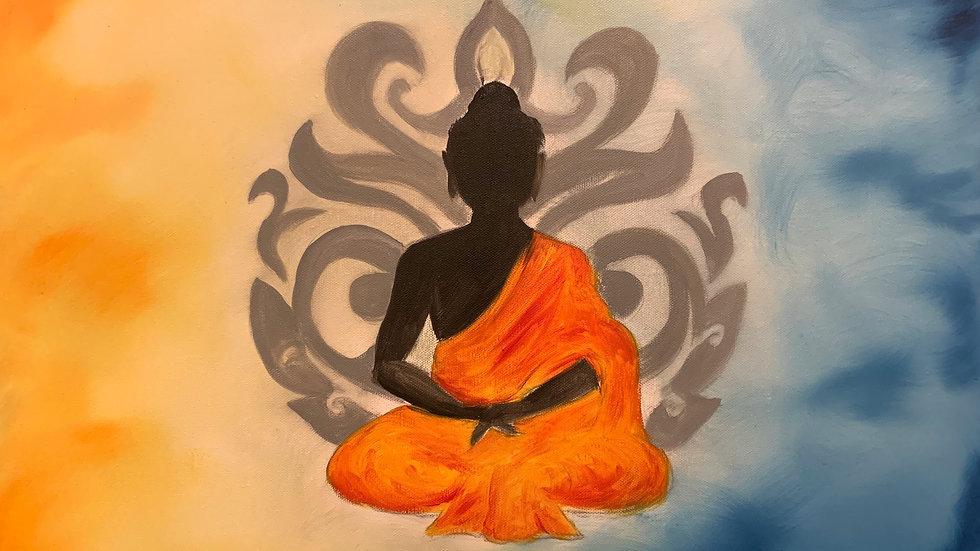 Blue/Orange Peaceful Buddha