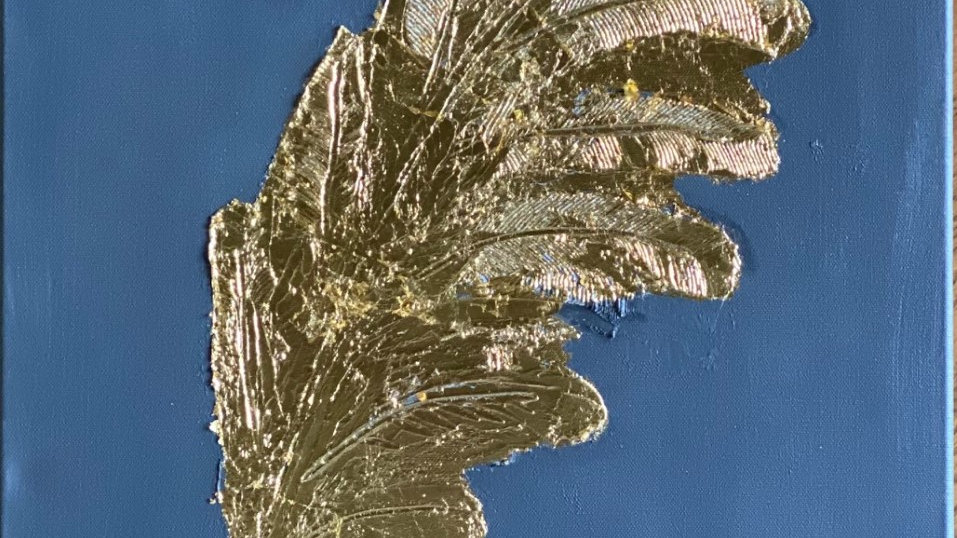 Golden Leaf - Gold Leaf Textured on Acrylic