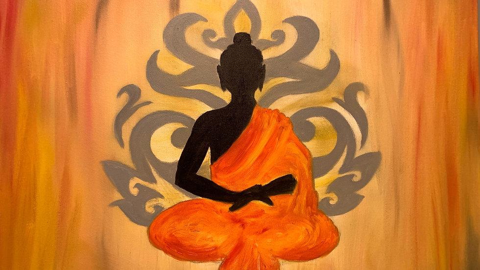 Orange Peaceful Buddha