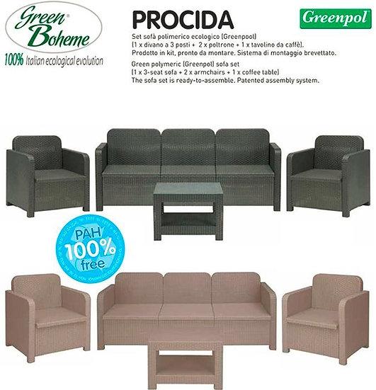 Conjunto PROCIDA (Antracite) Green Boheme