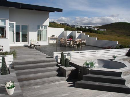 Garður með lágmarksviðhaldi