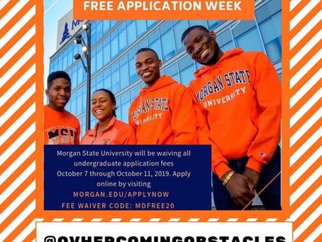 Morgan State Free Application Week