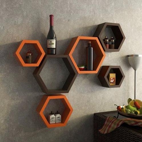 Coloured wall shelves