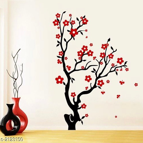 Pink tree wall sticker