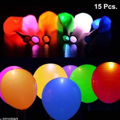 Multi-coloured LED balloon ( pack of 15 balloons)