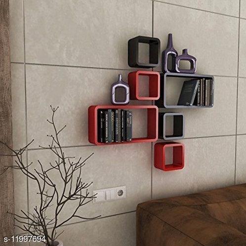6-cubed wall shelf