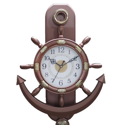 Ship wheel designed wall clock