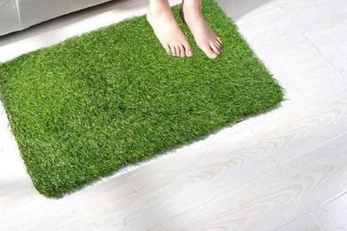 Grass look door mat