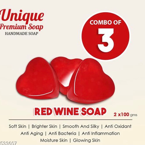 Red wine soap (pack of 3)