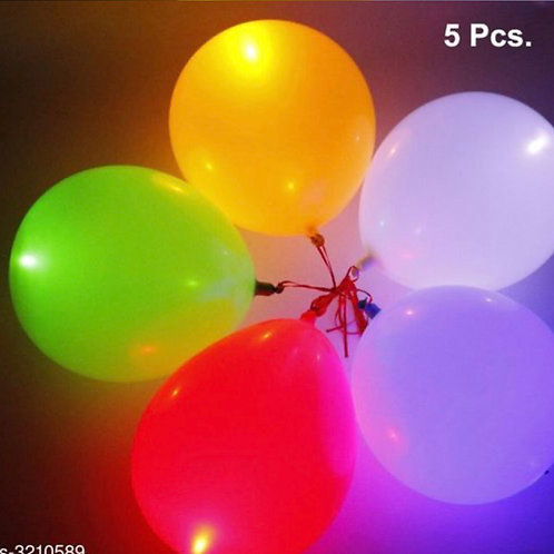 Multicolour LED balloon for parties or festivals( 5 pieces)