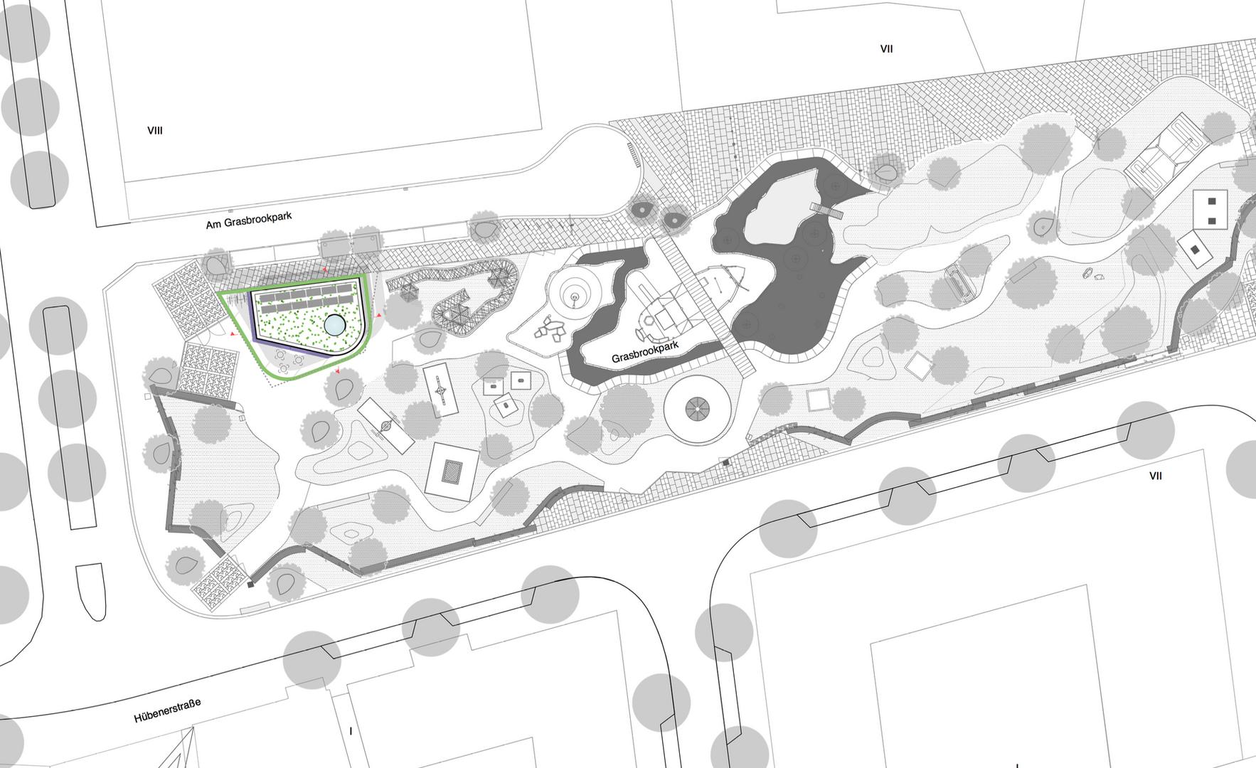 Lageplan Grasbrookpark - Haack + Hoepfner Architekten