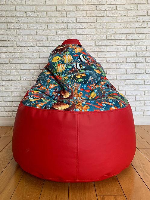"""Кресло Мега """"Карасики"""" Ред"""
