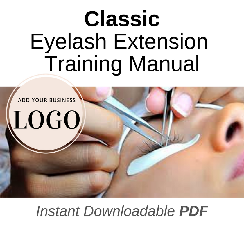 private labeled classic lash extension manual