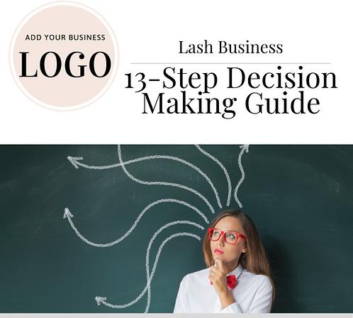 13-Step Lash Business Decision Making Worksheet (PDF)