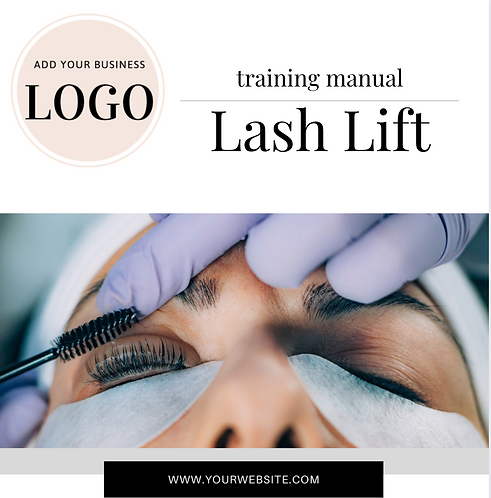 Lash Lift & Tint Training Manual (Instant Download PDF)