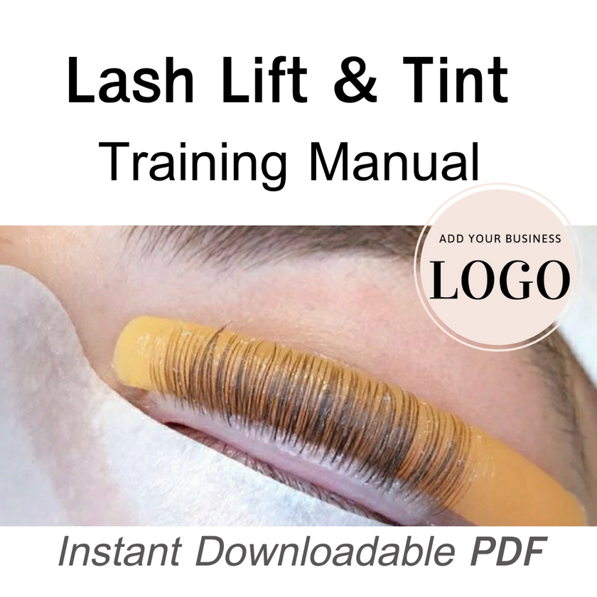 private labeled lash lift and tint manual