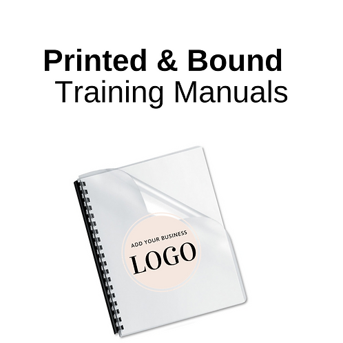 Printed Booklets: Private Label Lash Training Manuals