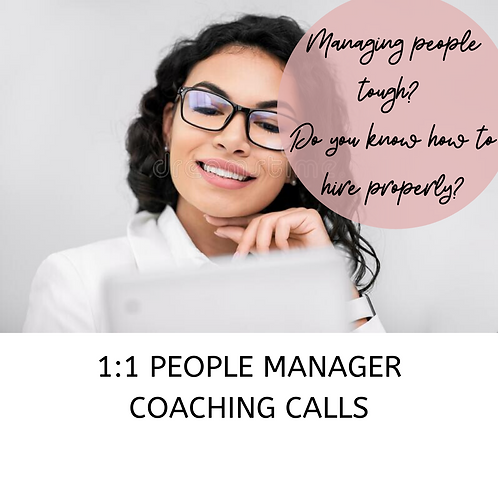 1:1 People Manager Coaching Calls