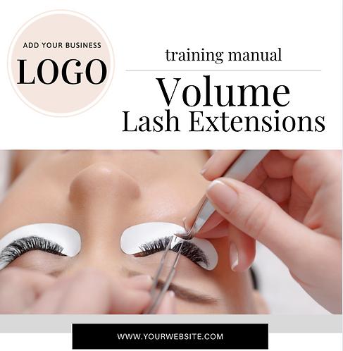 Volume Lash Training Manual