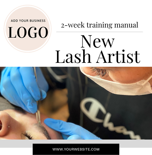 New Lash Artist 2-Week Training Plan (Instant Download PDF)