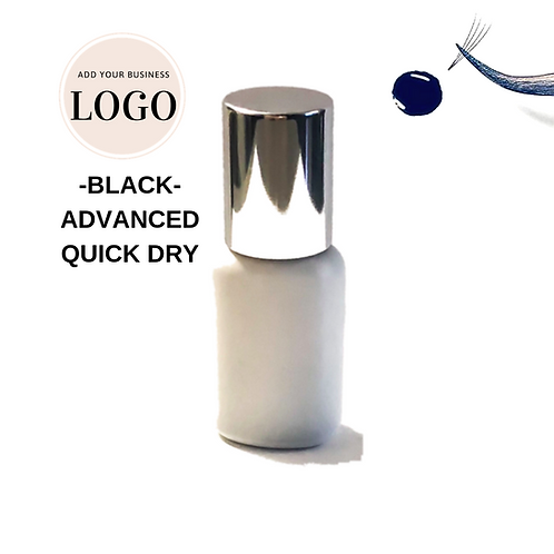 **5-Pack** Quick-Dry BLACK Private Labeled Oil-Resistant Lash Extension Glue